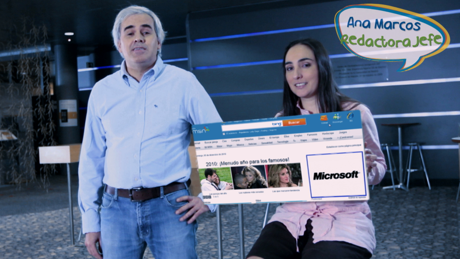 Microsoft MSN vfx rodaje 3D COMPOSICION VISUAL LOOP
