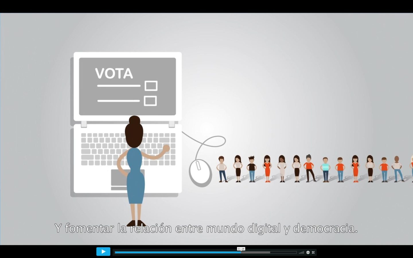 Derechos Digitales Ministerio Motion Graphics visual loop