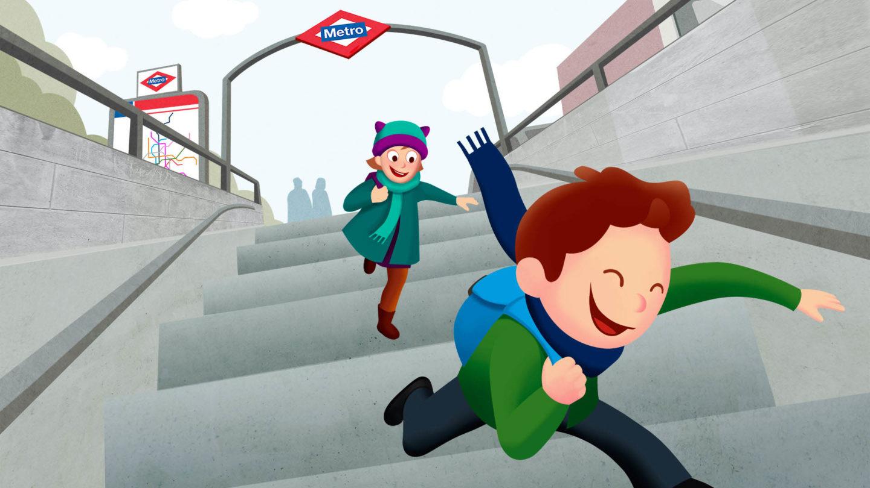 metro madrid ilustraciones interactivo