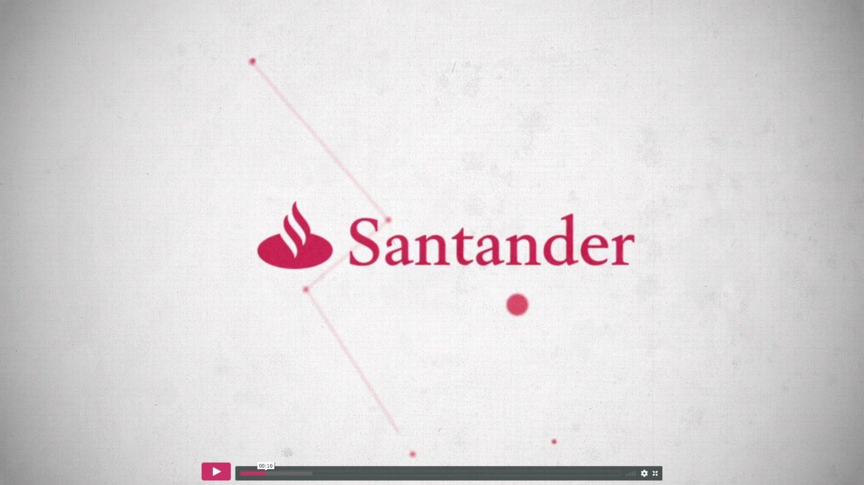 banco Santander Universidades y Universia motion graphics vfx visual loop